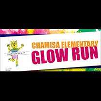 Chamisa Elementary Glow Run logo